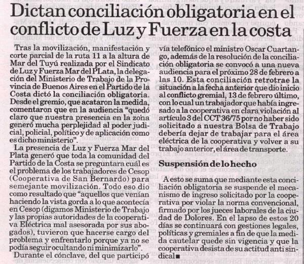 obligatoria — Diario La Capital — Viernes 21 de febrero de 2014