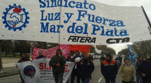 Movilización de la CTA Regional General Pueyrredon-Balcarce-Mar Chiquita