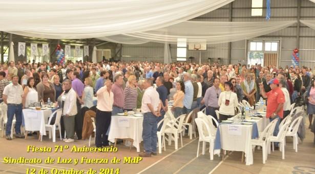 71 años de Luz y Fuerza de Mar del Plata: ¡Gran fiesta Aniversario!