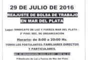 CIRCULAR 59 (16-17): 29 DE JULIO: REAJUSTE BOLSA DE TRABAJO EN MAR DEL PLATA