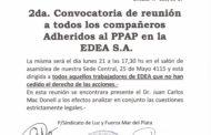2da. Convocatoria de reunión a todos los compañeros Adheridos al PPAP en la EDEA S.A.