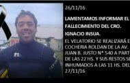 LAMENTAMOS INFORMAR EL FALLECIMIENTO DEL CRO. IGNACIO INSUA
