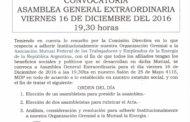 CIRCULAR N°188 (16-17): CONVOCATORIA A A.G.E. 16-12-16