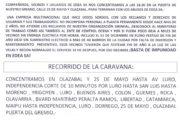 Caravana contra EDEA SA. Basta de Impunidad