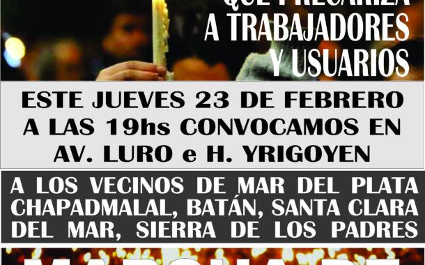 MARCHA DE LAS VELAS: BASTA DE EDEA S.A. 23 DE FEBRERO - 19hs