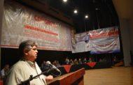 José Rigane presente en el Congreso de la Nueva Central de Trabajadores en México