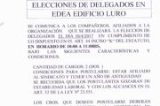 10 DE ABRIL: ELECCIÓN DELEGADOS EN EDEA (EDIFICIO LURO)