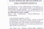 10 DE ABRIL: ELECCIÓN DELEGADOS EN EDEA (EDIFICIO INDEPENDENCIA)