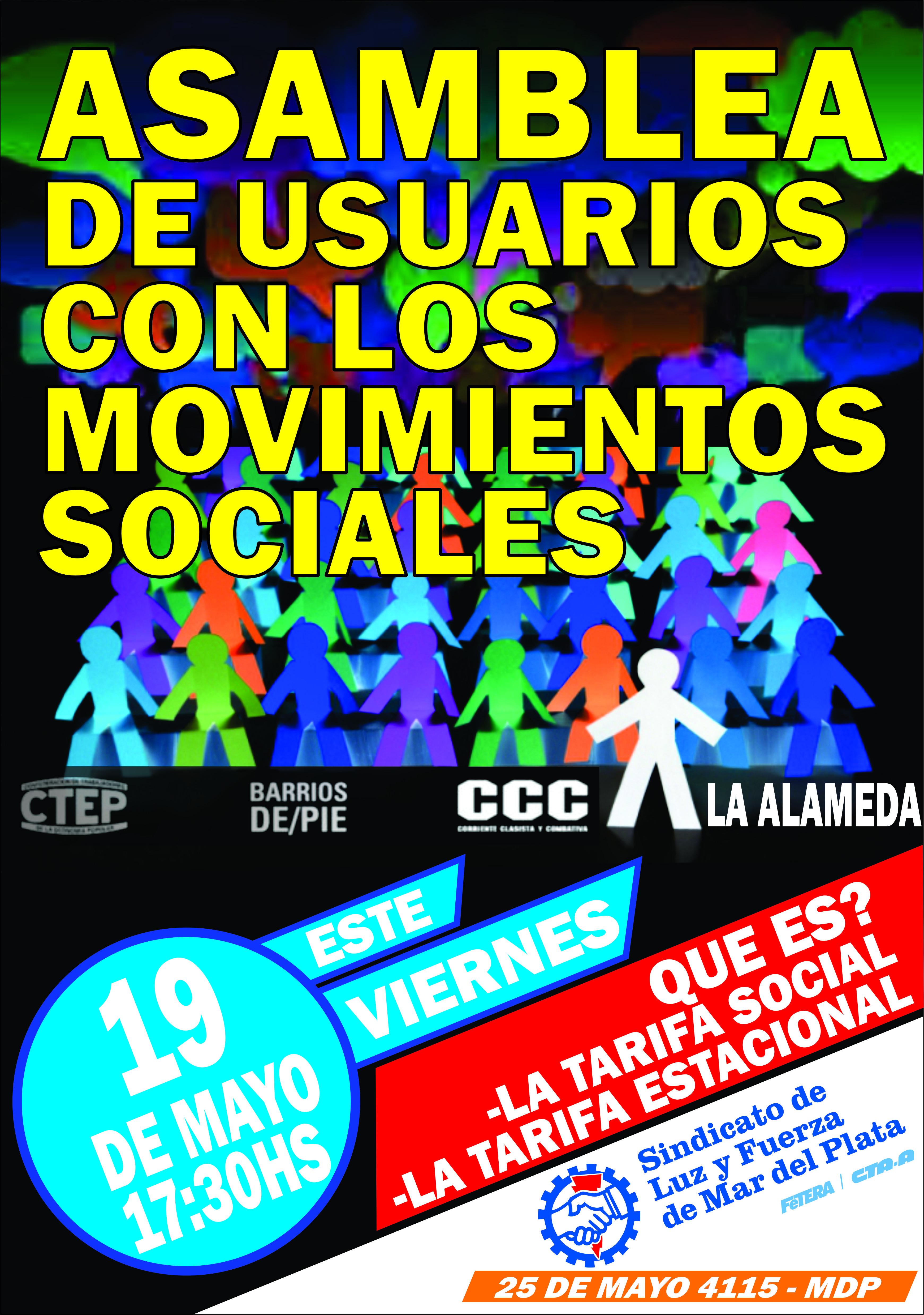 ASAMBLEA DE USUARIOS CON MOVIMIENTOS SOCIALES