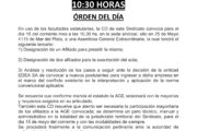 CONVOCATORIA ASAMBLEA GENERAL EXTRAORDINARIA: 15 de  Mayo - 10:30 HORAS