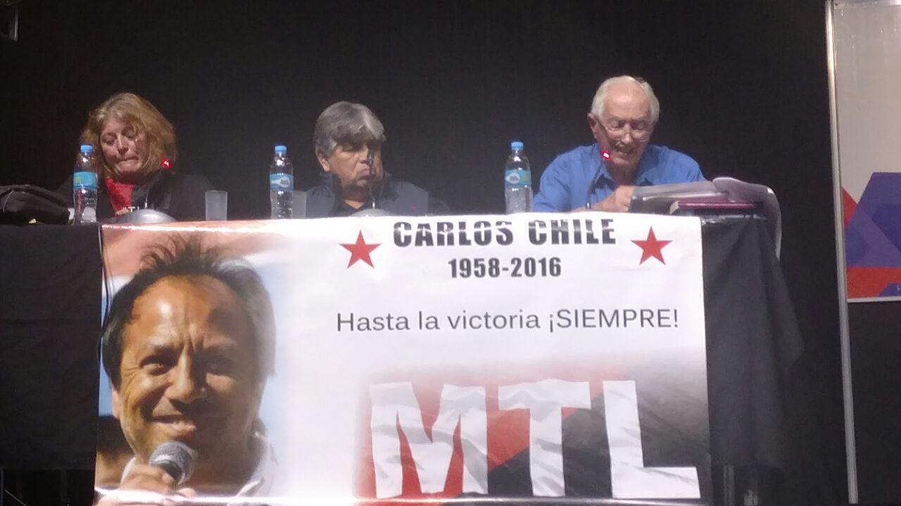José Rigane en el homenaje a Carlos Chile en la 43ª Feria Internacional del Libro
