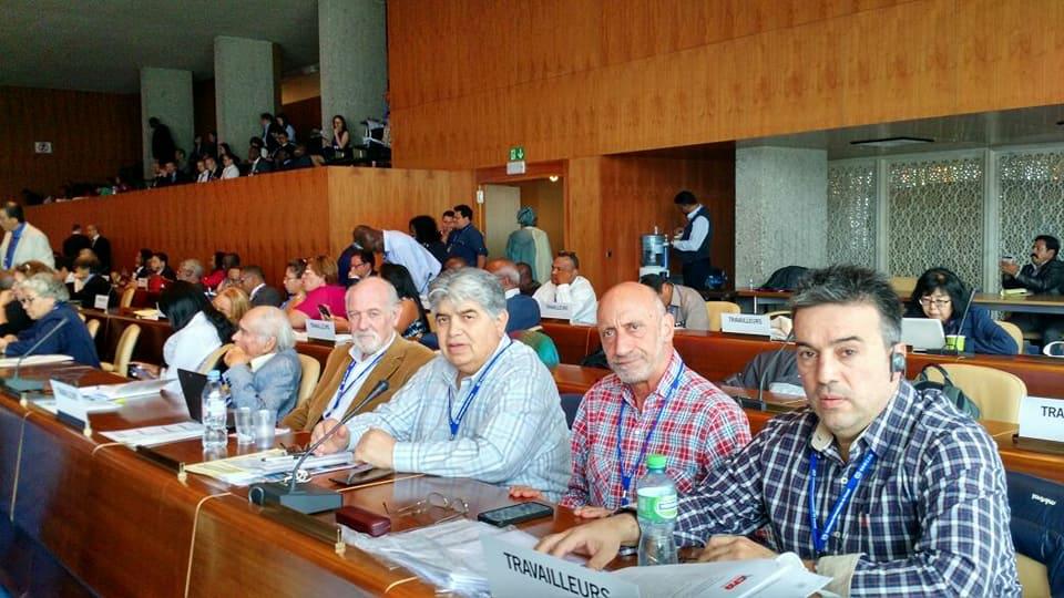 """RIGANE EN LA OIT: """"Hay una ofensiva mundial para afectar los derechos de los trabajadores"""""""