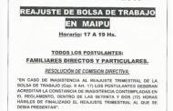 REAJUSTES BOLSAS DE TRABAJO EN DELEGACIONES