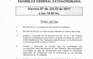 CONVOCATORIA ASAMBLEA GENERAL EXTRAORDINARIA 7 DE JULIO - 18hs