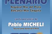 CONVOCATORIA AL PLENARIO REGIONAL DE LA CTA-A