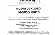 FOSOLyF: NUEVO CONVENIO ODONTOLÓGICO