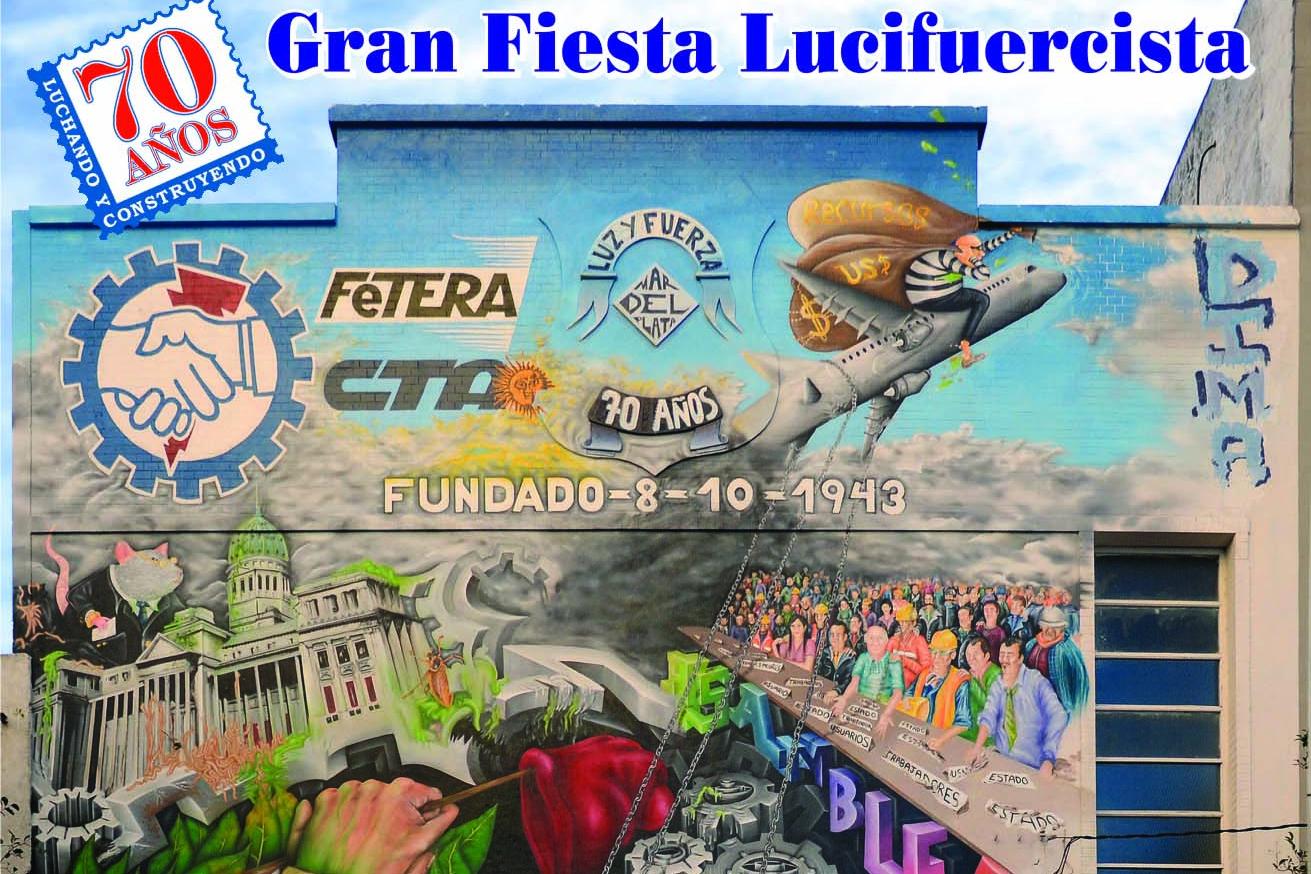 Fiesta 70° aniversario Luz y Fuerza de Mar del Plata