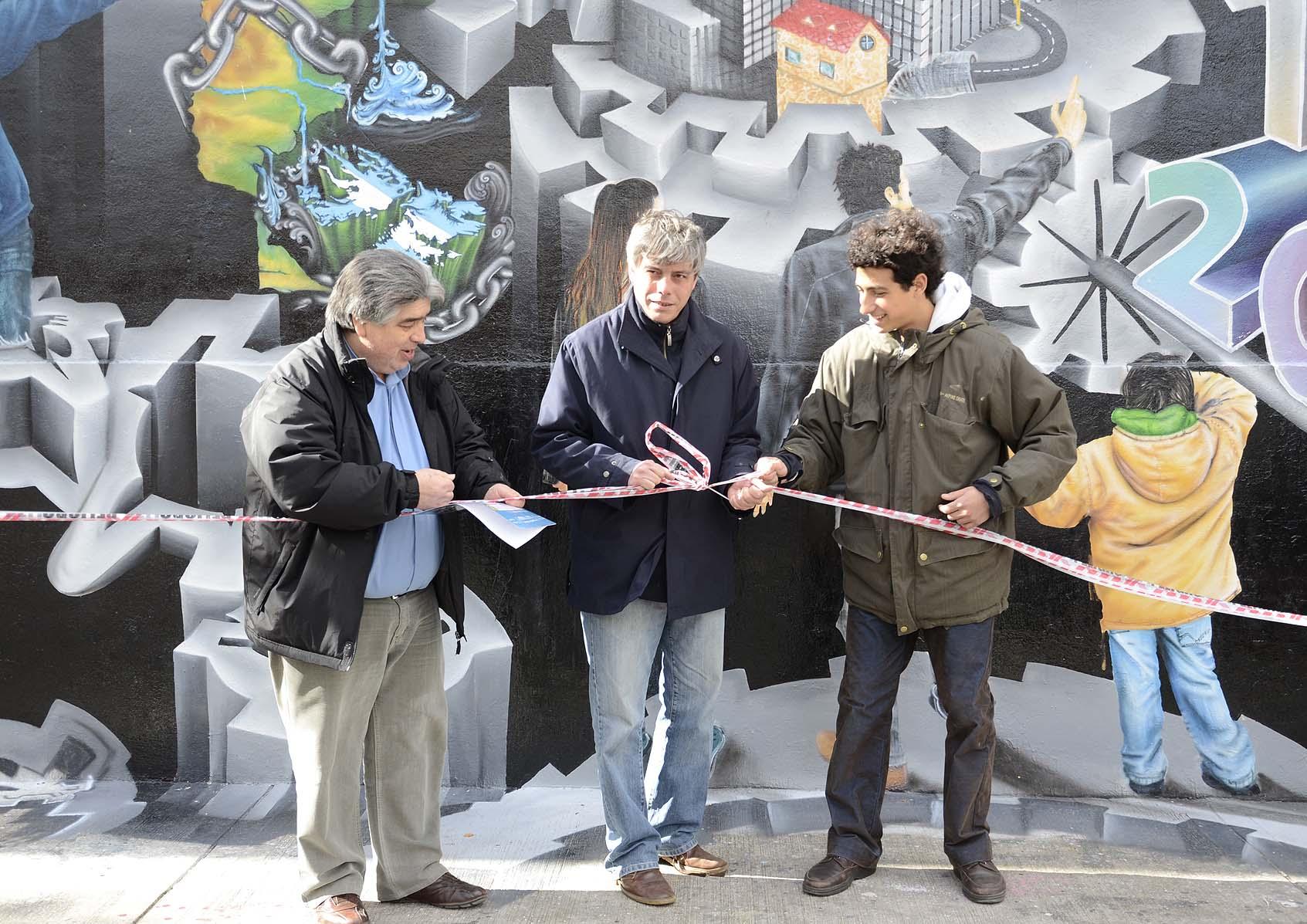 Se Inaugur El Mural M S Alto De Mar Del Plata Luz Y