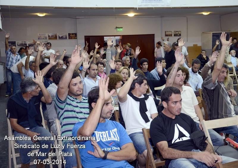 Por unanimidad Luz y Fuerza Mar del Plata aprobó adherir al PARO NACIONAL Y MOVILIZACIÓN del 12 de marzo