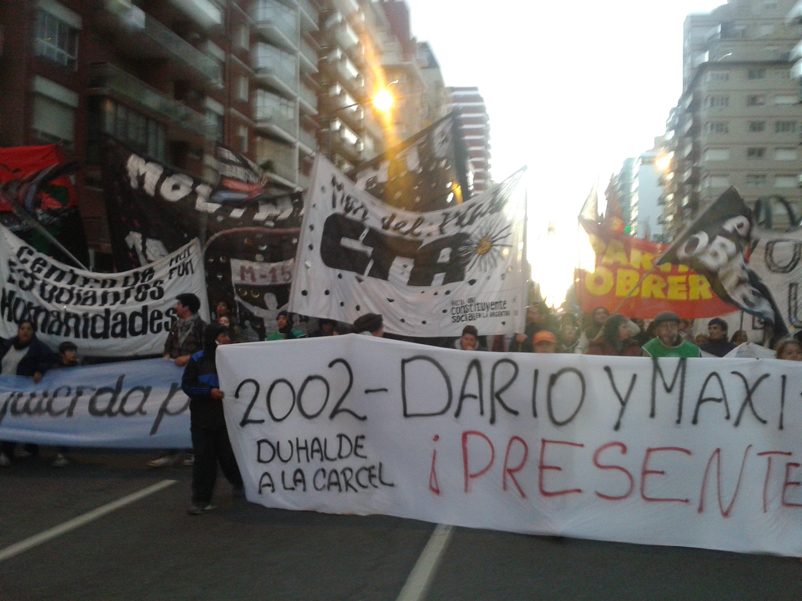12 años de la Masacre de Avellaneda ¡Darío y Maxi, presentes!