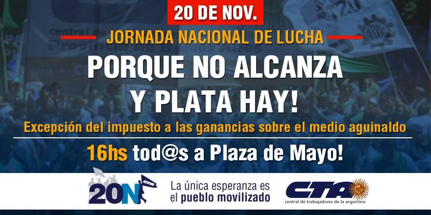 20N: Jornada Nacional de Lucha