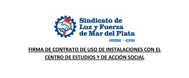 ACUERDO CON EL C.E.A.S. PARA EL USO DE INSTALACIONES DEL SINDICATO