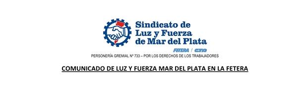 RESOLUCIÓN CONTRA LA INSTITUCIONALIDAD DEL SINDICATO DE LUZ Y FUERZA DE MAR DEL PLATA