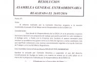 CIRCULAR N°27 (16-17) RESOLUCIÓN A.G.E. 26-5-16