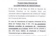 CIRCULAR 28 (16-17) PLAZO PARA PRESENTAR INASISTENCIA A BOLSA DE TRABAJO