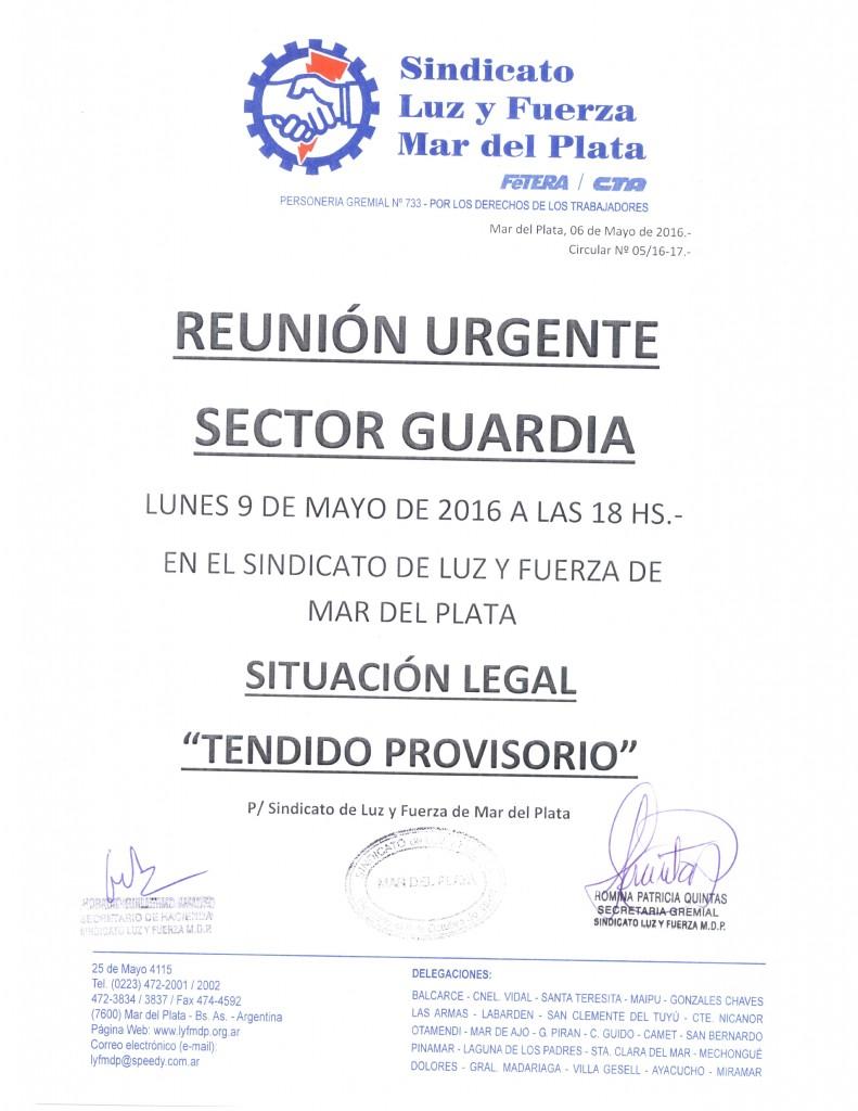 Circular 5 (16-17) Reunion Guardia