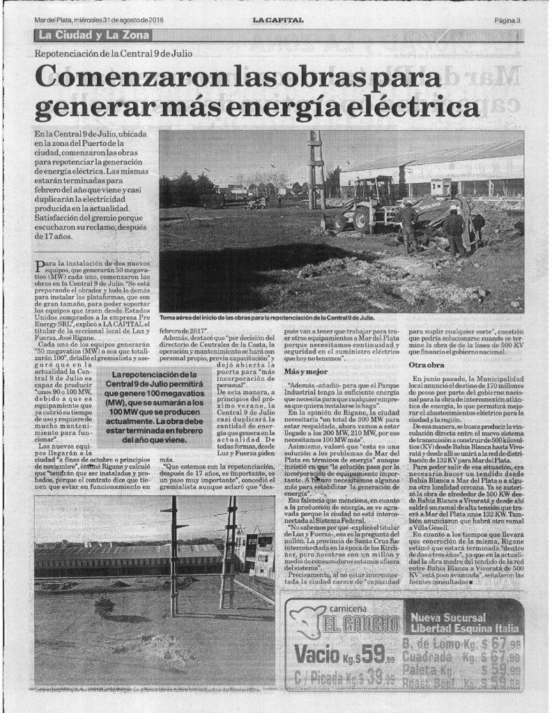 Nota La Capital 31-8-16