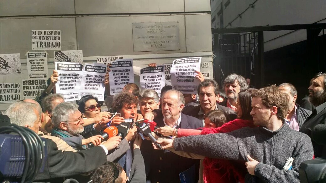 """Las dos CTA con el Ministro de Trabajo de la Nación: """"Nos vamos con las manos vacías"""""""
