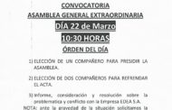 CONVOCATORIA ASAMBLEA GENERAL ORDINARIA 22-3-17
