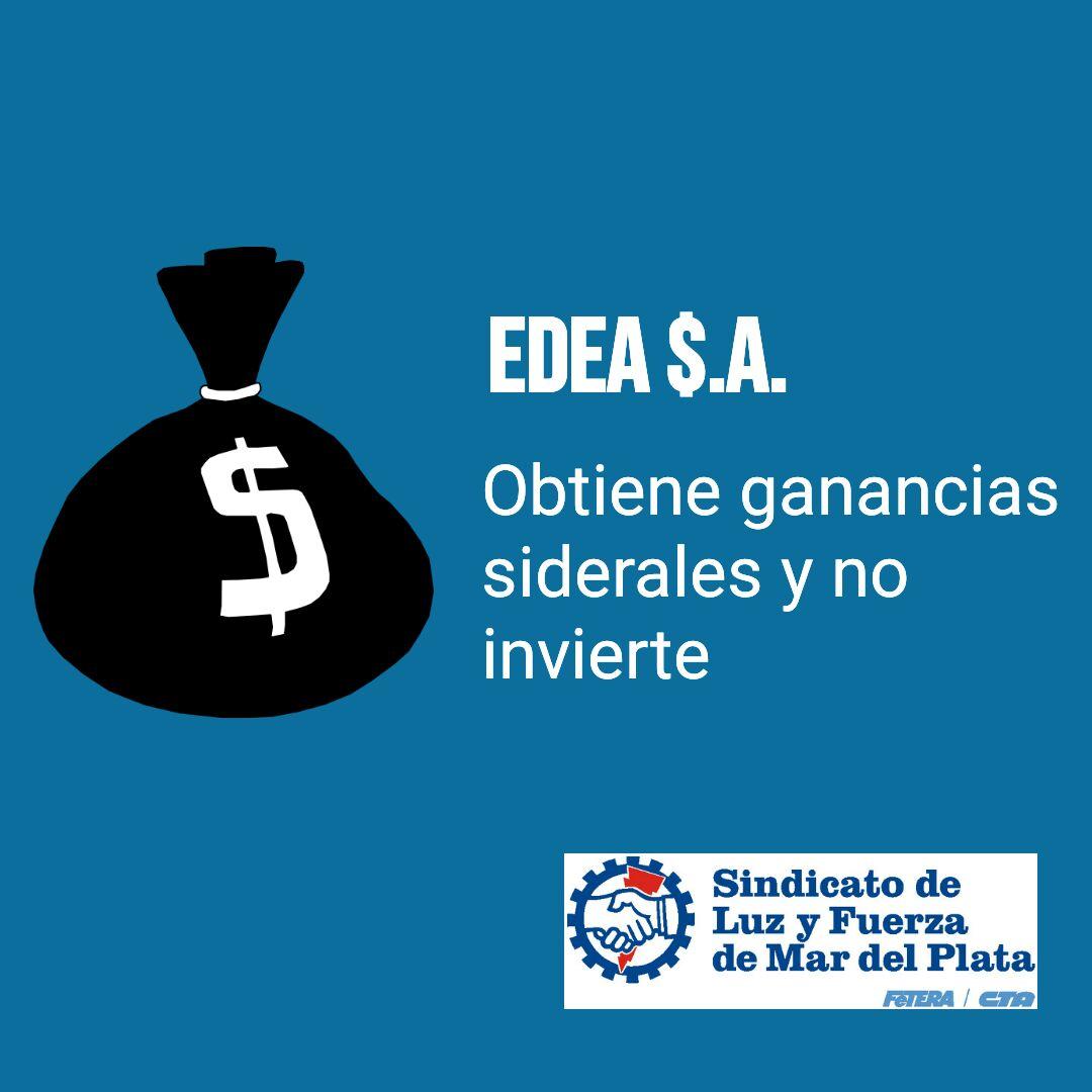 RECLAMAMOS QUE EDEA S.A. HAGA INVERSIONES