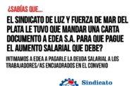 EDEA S.A. AÚN NO ABONÓ SU DEUDA CON LOS TRABAJADORES