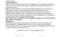 RESOLUCIÓN DE ASAMBLEA GENERALEXTRAORDINARIA DEL 19 DE JUNIO DE 2017