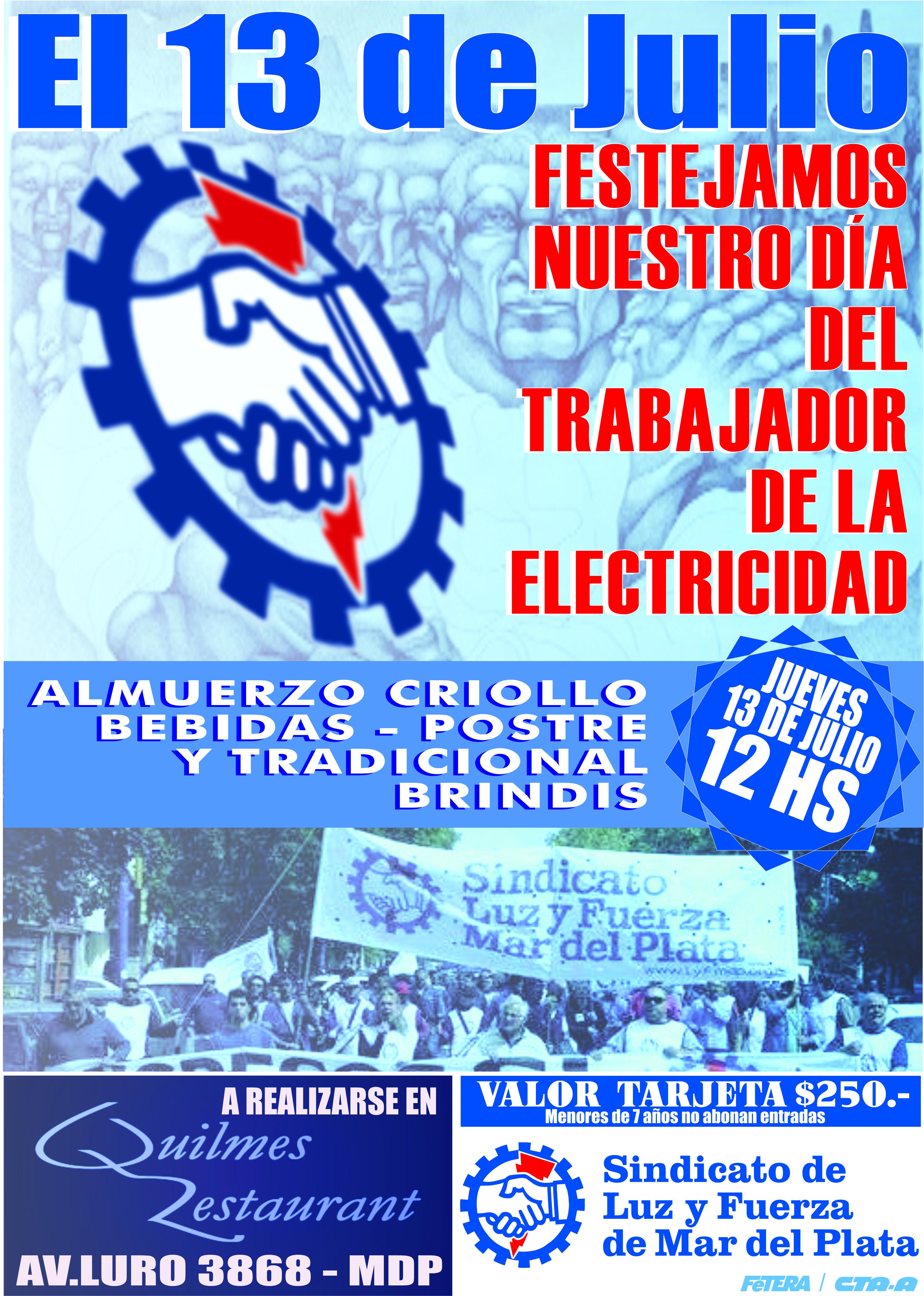 13 de Julio: Día del Trabajador/a de la Electricidad