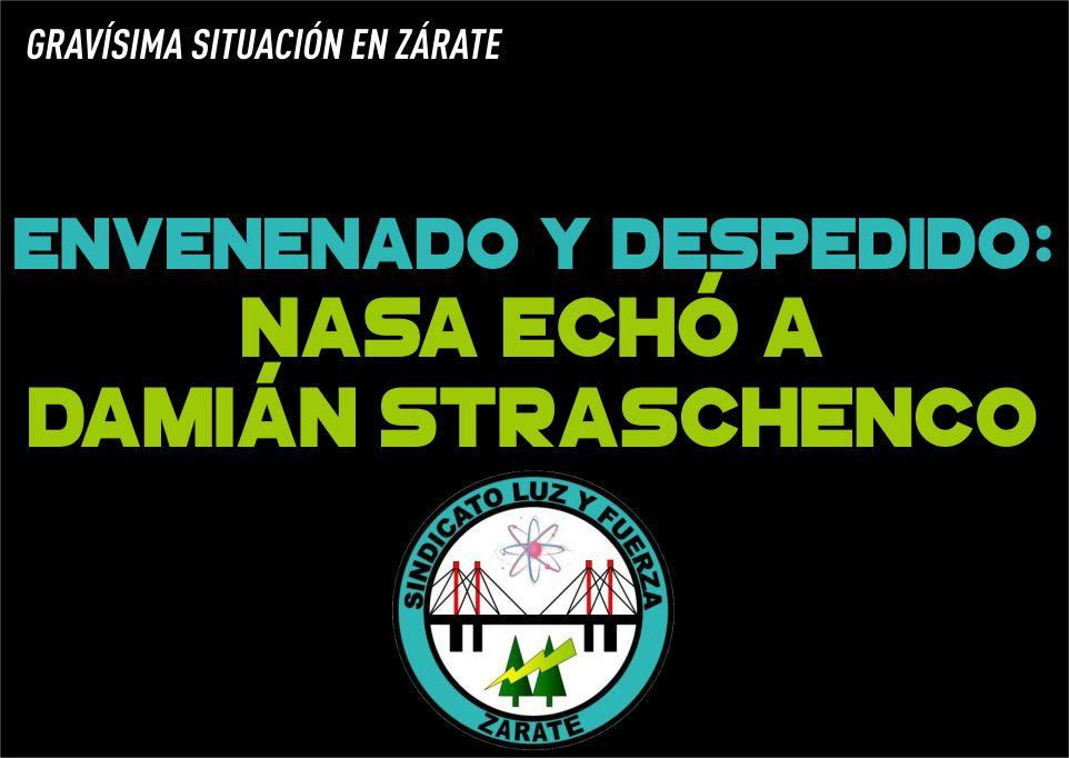 Envenenado y despedido: NASA echó a Damián Straschenco