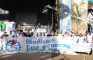 LUZ Y FUERZA MAR DEL PLATA PARA Y MOVILIZA EL 29/11/17.