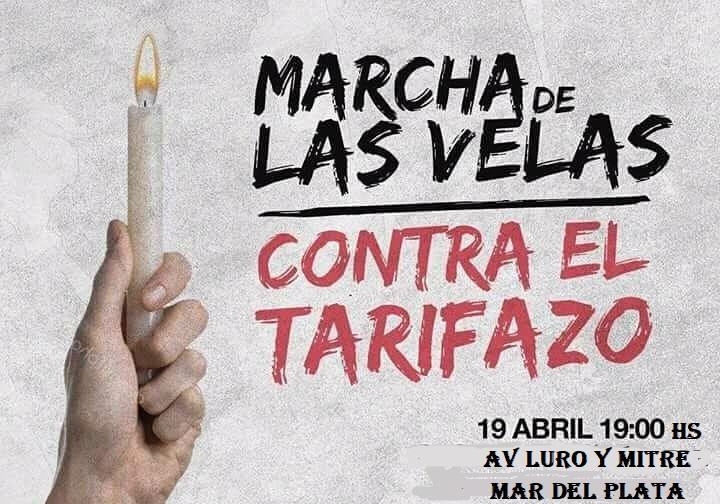 MARCHA DE LAS VELAS CONTRA LOS TARIFAZOS