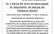 3 DE MAYO - REAJUSTE BOLSA DE TRABAJO EN MAIPÚ