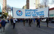LUZ Y FUERZA MAR DEL PLATA REALIZÓ UNA NUEVA JORNADA DE PARO Y MOVILIZACION