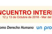 Declaración Final Encuentro Internacional 2018