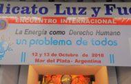 ENCUENTRO INTERNACIONAL EN LUZ Y FUERZA MAR DEL PLATA