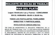 31 DE ENERO: REAJUSTE BOLSA DE TRABAJO EN MAR DEL PLATA