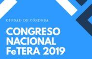 La FeTERA realizará su Congreso Nacional el 26 y 27 de abril en Córdoba