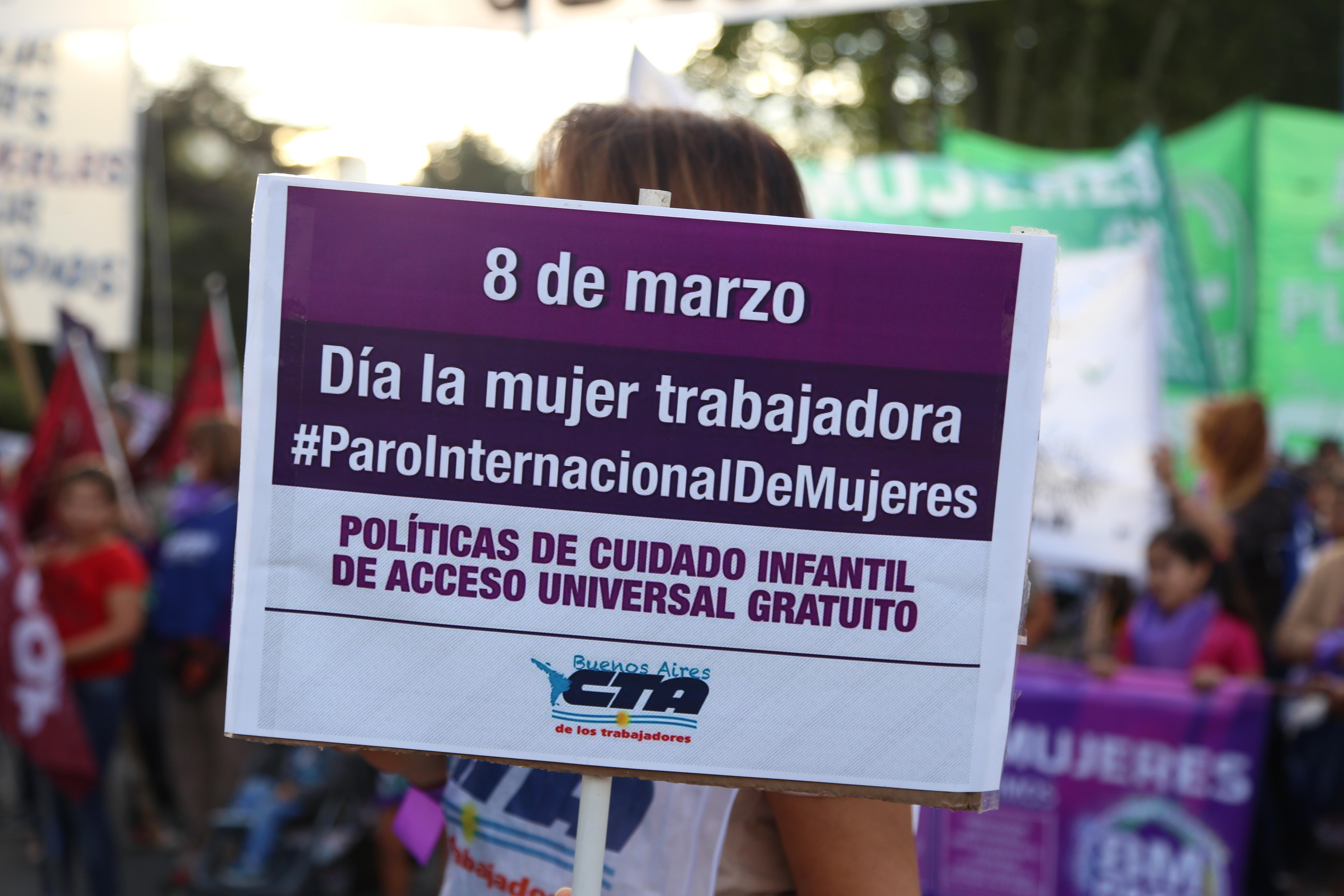 8 DE MARZO: PARO INTERNACIONAL DE MUJERES