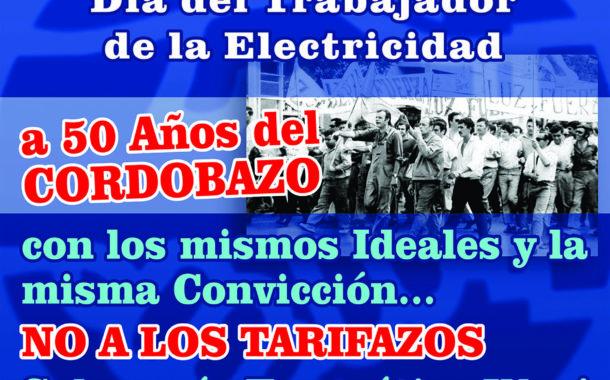 ALMUERZO POR EL DÍA DEL TRABAJADOR Y LA TRABAJADORA DE LA ELECTRICIDAD