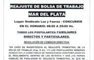 31 DE JULIO: PRÓXIMO REAJUSTE BOLSA TRABAJO MAR DEL PLATA