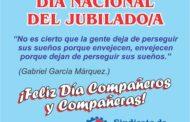 20 DE SEPTIEMBRE, DÍA DEL JUBILADO Y LA JUBILADA